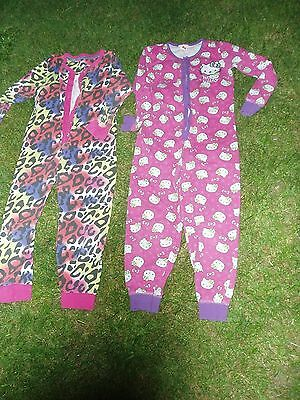 2 Girls JUMPSUIT 6-7 Years. HELLO KITTY+OTHER.