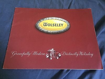 1950s Wolseley Four-Fifty Large 16 Page Color Brochure Catalog Prospekt