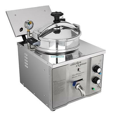 16L Commercial Electric Pressure Chicken Fryer Cooker Countertop Stainless Steel