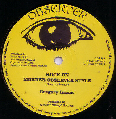 "GREGORY ISAACS Rock On / DENNIS BROWN Jah Is Watching OBSERVER REISSUE 12"" MINT"