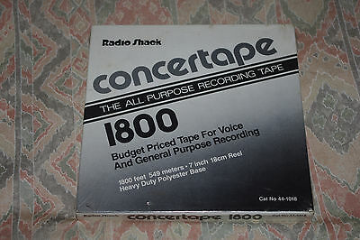 "New Radio Shack 7"" Spool Concertape Sealed In Packaging"