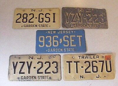 Estate Find Lot 5 - Vintage 1970's 1980's  New Jersey Car Auto Licence Plates
