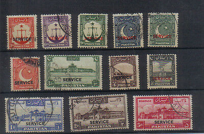 Pakistan 1948-54 Officials set to 5Rs used