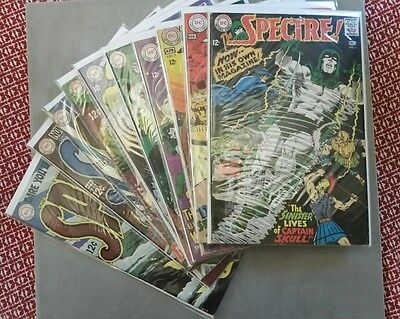 THE SPECTRE #1-10  Complete Set.                 NEAL ADAMS 1967 SILVER AGE DC