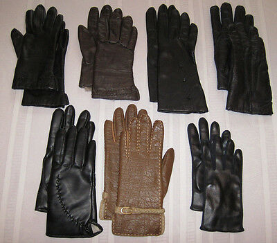 Ladies Vintage Leather Dress Gloves, Lot of 7 Pair,  EXCELLENT CONDITION!