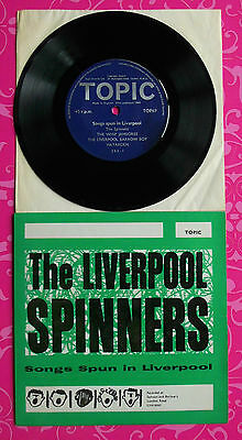 """LIVERPOOL SPINNERS 7"""" EP Songs Spun In Liverpool UK 1stP MONO 1962"""