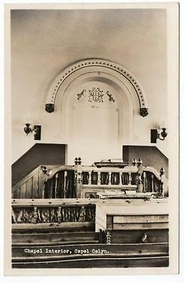 Early CAPEL CELYN  Chapel Interior  Treweryn Bala Meirionethshire Photo Postcard