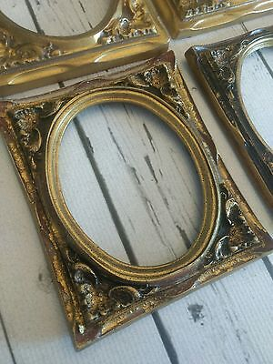 Lot of 4 vintage gold paint finsh picture frame fronts