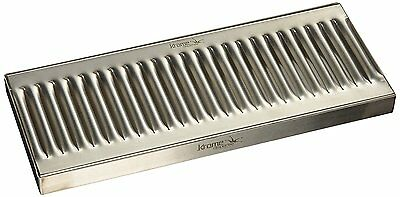 """Krome Dispense C606 Stainless Steel Drip Tray Surface, No Drain, 12"""" x 5"""", 1.2"""