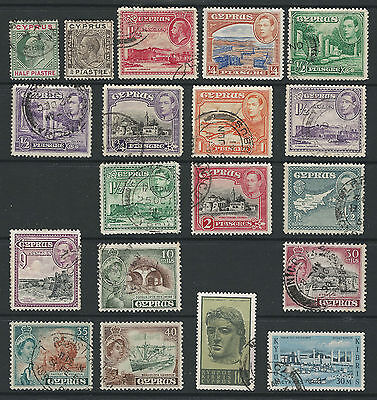 Cyprus selection 18 Used and one Mint