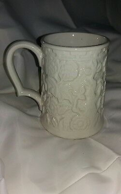H J Woods Vintage China Tankard Indian Tree Hand Painted Not Painted? Rare?