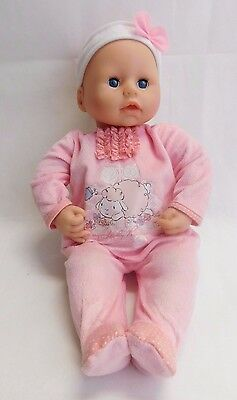 "Zapf Creation Baby Chloe Doll 18"" Soft Body Eyes Open Close Original Sleeper"