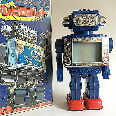 Vintage Horikawa NEW TV ROBOT  1970S TOY with original box from Japan