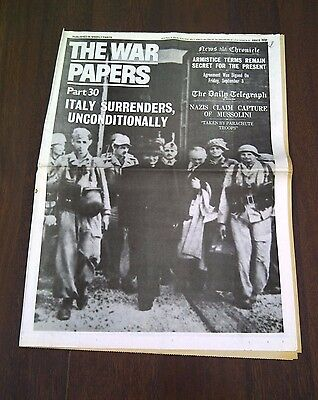 The War Papers, Parts 30 to 39: Newspaper Reprints Telling the Story of WWII