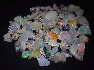 175 Cts  NATURAL WELO PLAY FIRE ETHIOPIAN OPAL WHOLESALE LOT ROUGH SPECIMEN