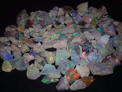 190 Cts  NATURAL WELO MULTI PLAY FIRE ETHIOPIAN OPAL WHOLESALE ROUGH SPECIMEN