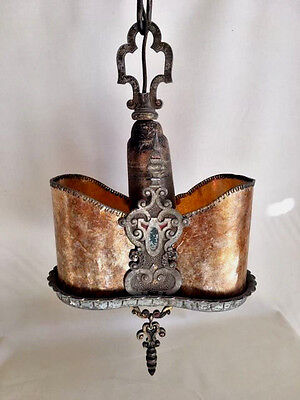 1920's MICA Pendant Light, GORGEOUS DETAIL, STUNNING!! Top to bottom perfection!