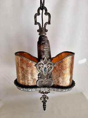 SALE!  1920's MICA Pendant Light, GORGEOUS DETAIL, STUNNING!! Perfection!
