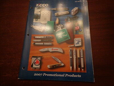 Full Size Promotional Products Zippo Lighter Catalog 2007 Unused 75 Anniversary