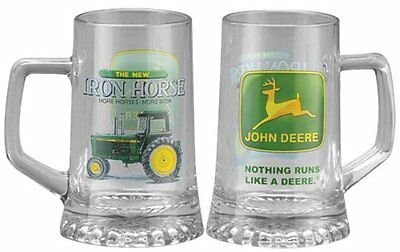 John Deere Licensed Glass .4 L Beer Mug Iron Horse
