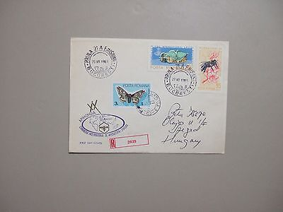 Butterfly&Insect stamps on registered fdc