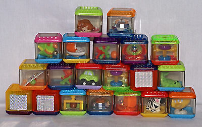 Fisher Price Peek A Blocks LOT of 20 Animals Shapes Colors Preschool Toddler