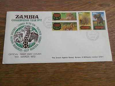 Zambia 1972 Cover Fdc Conservation Year Unused    Rs