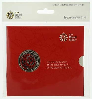 Royal Mint 2016 The Remembrance Day Alderney £5 Brilliant Uncirculated Coin Pack