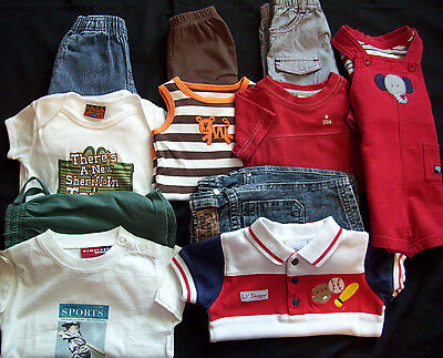 Lot  Of Infant Baby Boys 3 Months & 3-6 Months  Outfits Summer Jean Shorts Tops