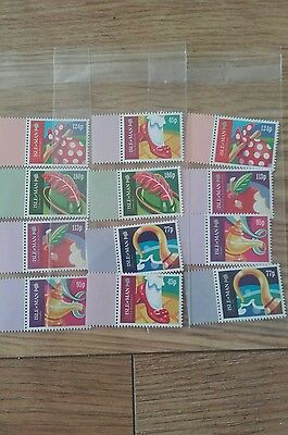 12 isle of man unused stamps