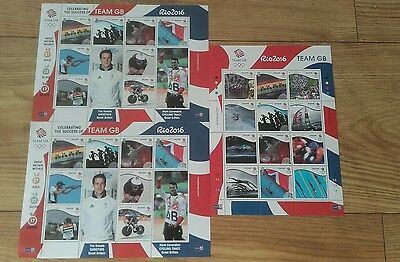 Isle of man rio 2016 unused stamps