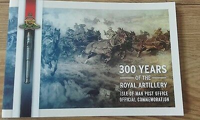 Isle of man royal artillery complete stamp booklet