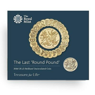 The Last Round Pound 2016 United Kingdom £1 Brilliant Uncirculated Coin UK
