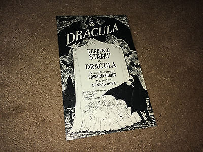 DRACULA 1970s Promo Flyer Terence Stamp Edward Gorey London Stage Horror Poster