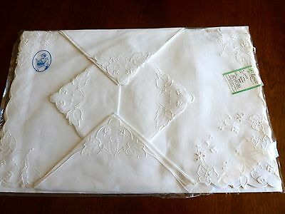 Vintage UNUSED 8 Pc Madeira Linen Placemats Napkin Orig Package