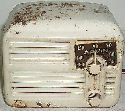 Vintage 1946 Arvin Metal Table Radio Model #444A - Restoration Project!