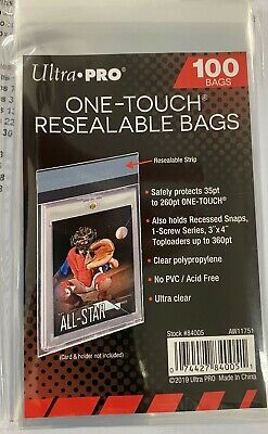 Ultra Pro Resealable One Touch Magnetic Team Bags Quantity 100 (35Pt - 180Pt)
