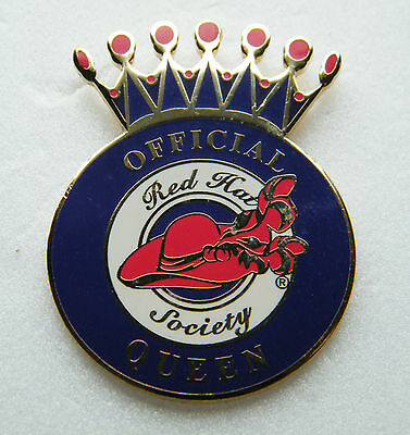 Official Red Hat Society Queen   -  Brooch / Lapel Pin.