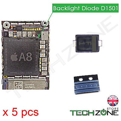 5 X Backlight Diode D1501 Chip Back Light Diode for iPhone 6 iPhone 6 Plus & SE