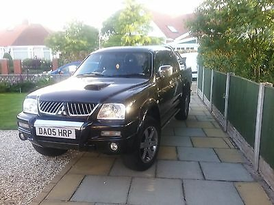 2005 55 Mitsubishi L200 2.5 Td Animal Double Cab No Vat Black