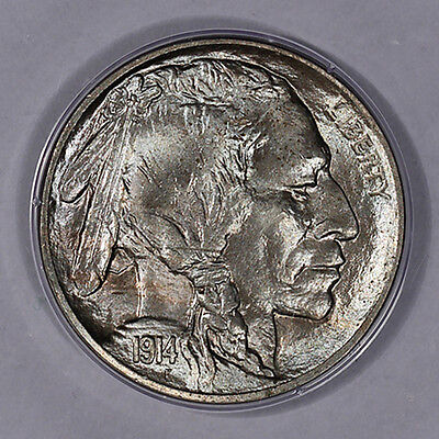 1914-D Buffalo Nickel MS64 PCGS Old Rattle Holder OGH (Super Fresh!!)