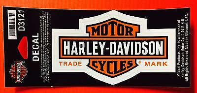 """HARLEY DAVIDSON DECAL D3121 ~ BAR-AND-SHIELD ~ 4""""x2 3/8"""" ~ WITH FREE PATCH!"""