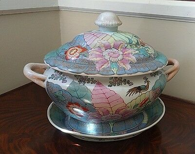 ANTIQUE PORCELAIN SOUP TUREEN French Country, Provincial Decor