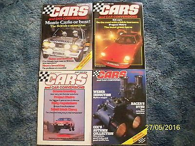 Vintage/Collectable CARS AND CAR CONVERSIONS Magazines x 4 -  Year 1981