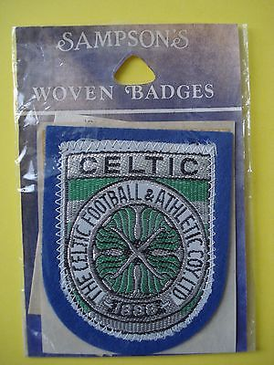 Glasgow  Celtic Football Club Sampson's Woven Badge (Blue) New Old Stock