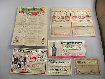 HAL-WIN Distilling Company IW Harper Shaw's Malt Whiskey Advertising Price List