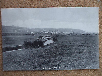 Vintage Printed Postcard Golf Links, Westward Ho ! Devon.
