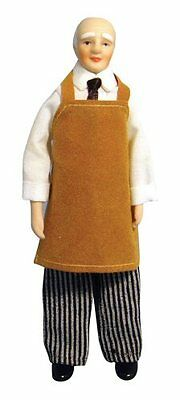 Doll House 1/12Th Scale Flexible Man In Apron (Dp148)
