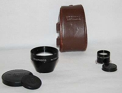 Yashica Yashinon Aux Telephoto Lens for Bay 1 TLR Cameras - Caps/Case