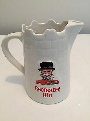 "Beefeater Gin / Water Ceramic Glazed Pitcher ""pub Jug"" Bar Advertising England"